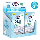 Fini Natural Sweets Chicle 0% Açúcar - 12 pacotes com 18G cada